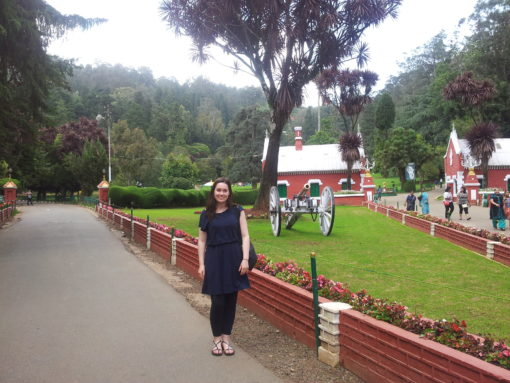 At the botanical gardens in Ooty.