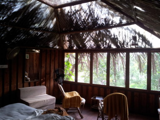Inside the cottage at Olaulim Backyards.