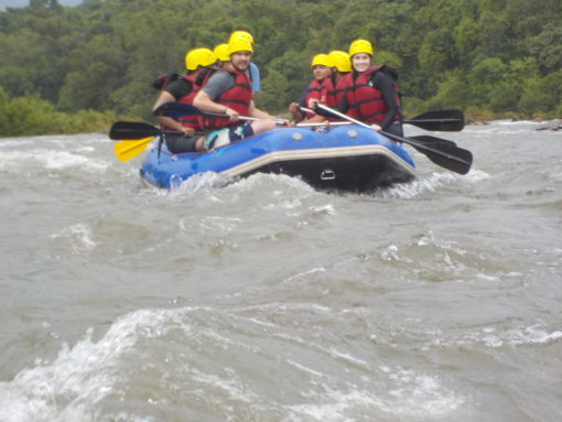 Whitewater rafting in Goa.