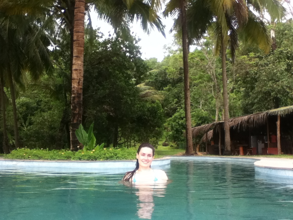 Swimming in Goa.
